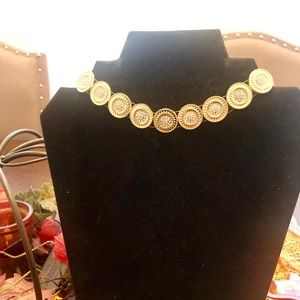 JCPenny Crystal Coin Necklace